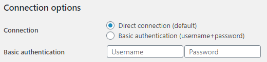 Basic Authentication configuration in WP Synchro